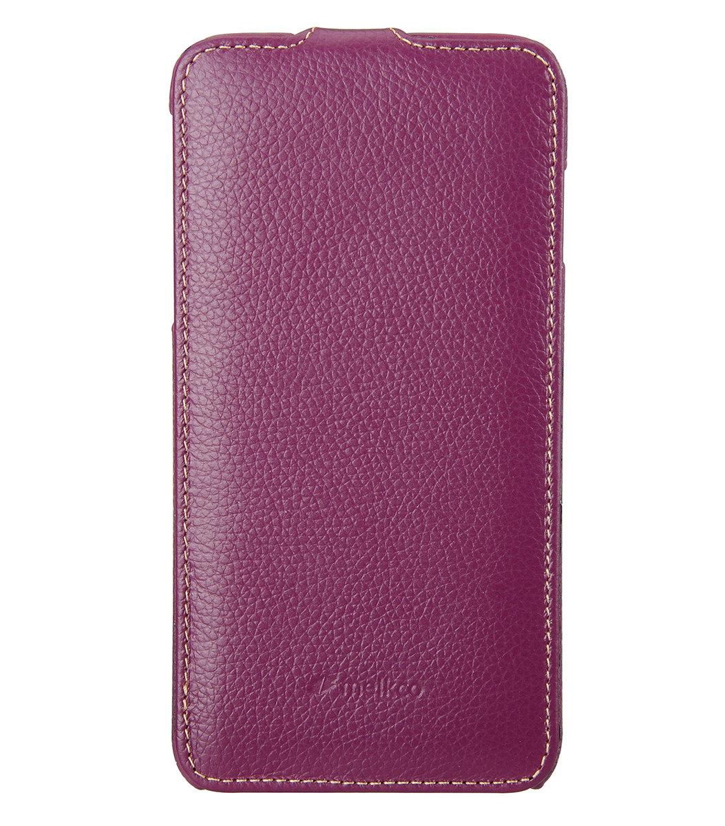 Apple iPhone 6 Plus/6s Plus  (5.5'') Jacka Type 高級真皮革手機套 (紫色荔枝條紋)