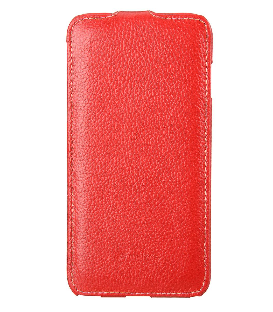 Apple iPhone 6 Plus/6s Plus  (5.5'') Jacka Type 高級真皮革手機套 (紅色荔枝條紋)