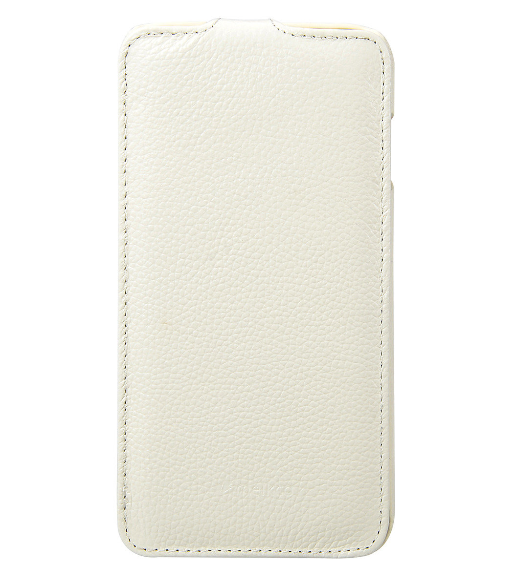Apple iPhone 6 Plus/6s Plus  (5.5'') Jacka Type 高級真皮革手機套 (白色荔枝條紋)