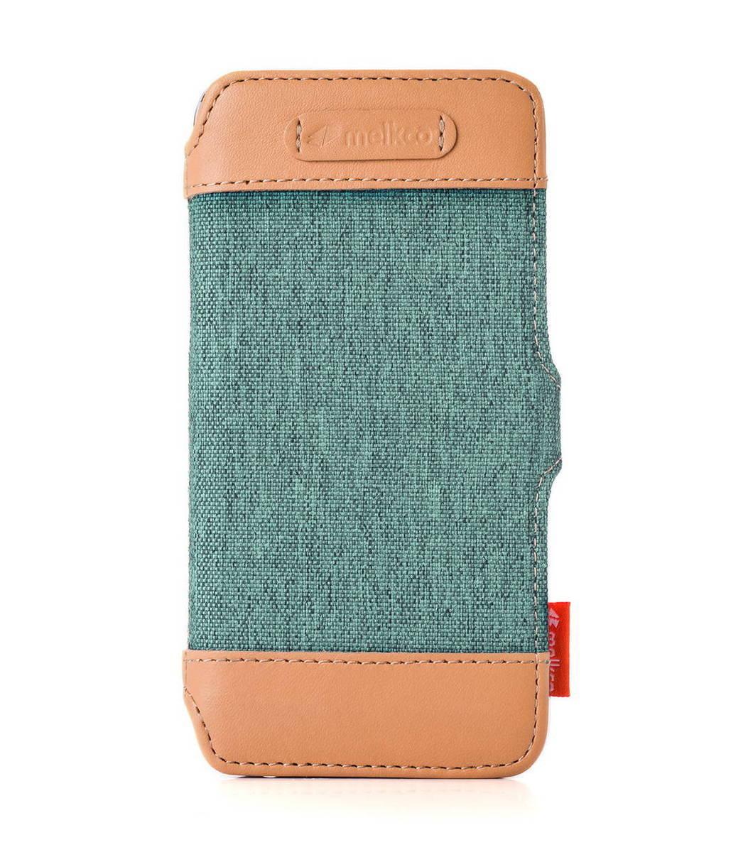 "Apple Iphone 6 Plus/6s Plus (5.5"") Booka Style Cru系列高級時尚真皮手機套(淺青色)"
