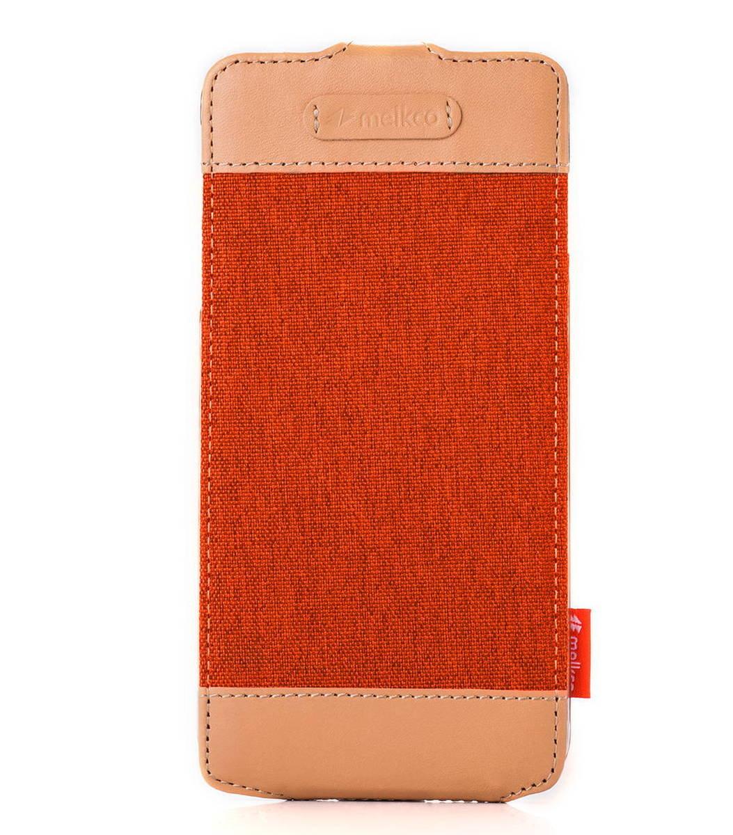 "Apple Iphone 6 Plus/6s Plus (5.5"") Jacka Type Cru系列高級時尚真皮手機套(橙色)"