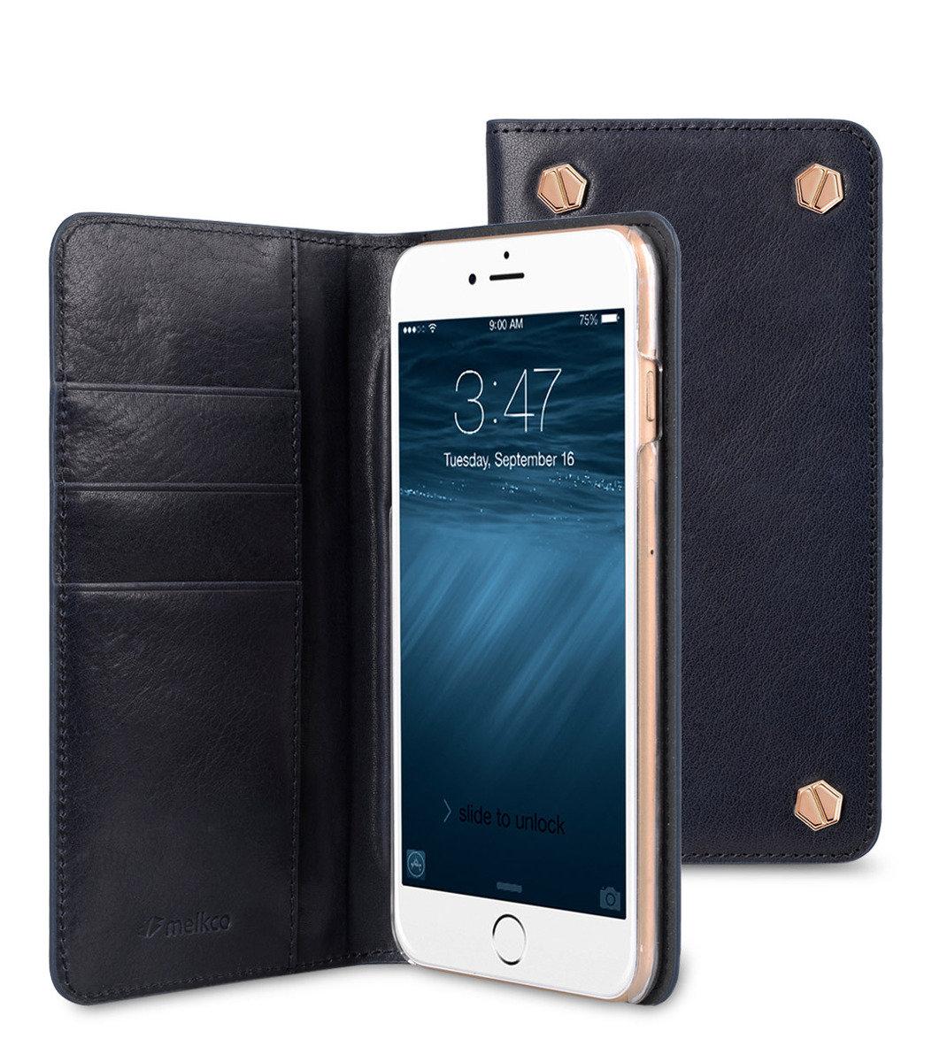 "Apple IPhone 6 Plus/6s Plus (5.5"") Hex-shine 系列義大利高級牛皮時尚手機套 (義大利藍色)"