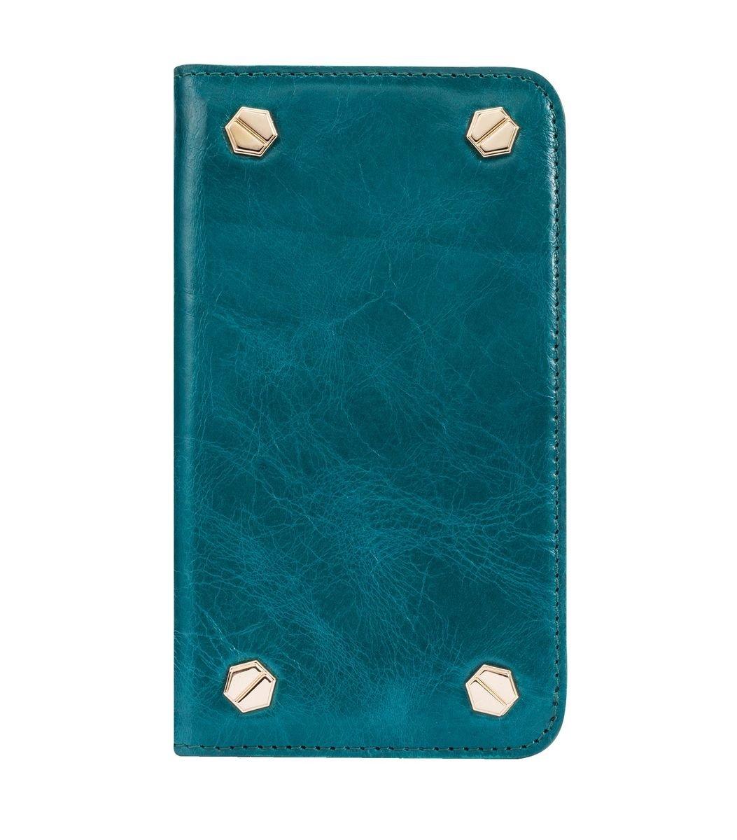 "Apple IPhone6 Plus/6s Plus (5.5"") Hex-shine 系列義大利高級牛皮時尚手機套 (奧利佛藍色)"