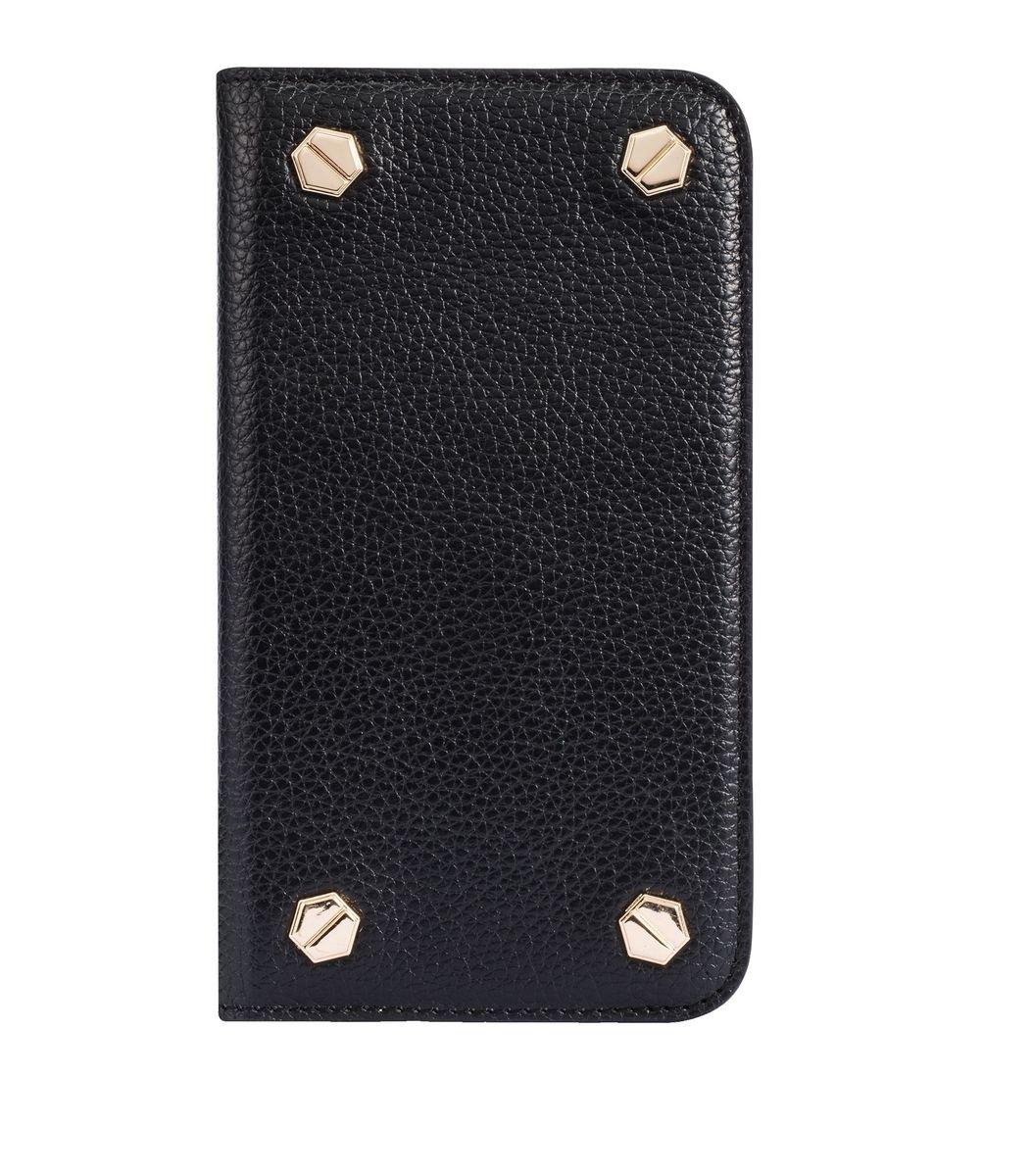 "Apple IPhone 6 Plus/6s Plus (5.5"") Hex-shine 系列義大利高級牛皮時尚手機套 (黑色荔枝條紋)"