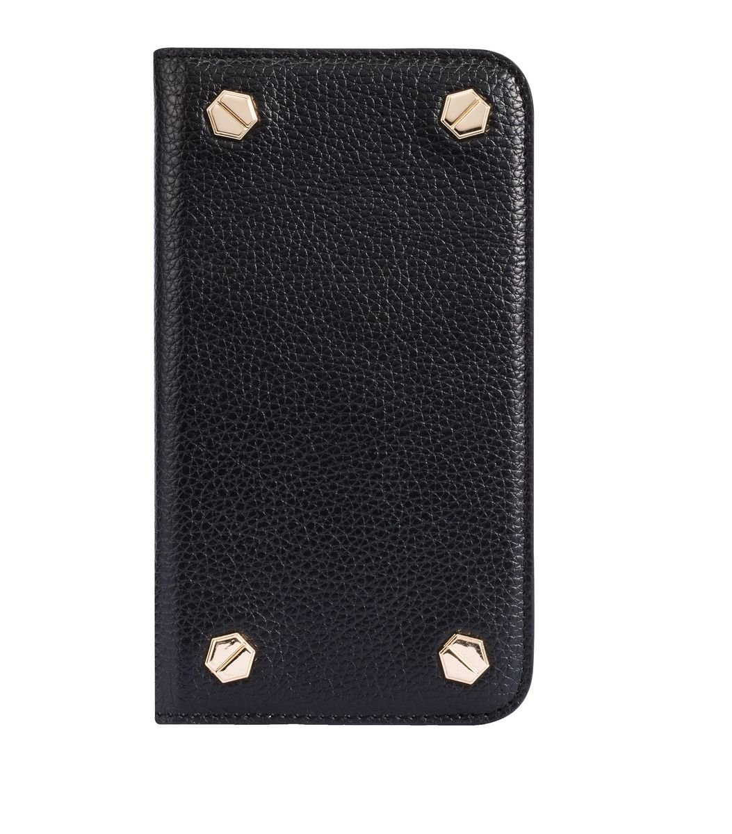 "Apple Iphone 6/6s (4.7"") Hex-shine 系列義大利高級牛皮時尚手機套 (黑色荔枝條紋)"