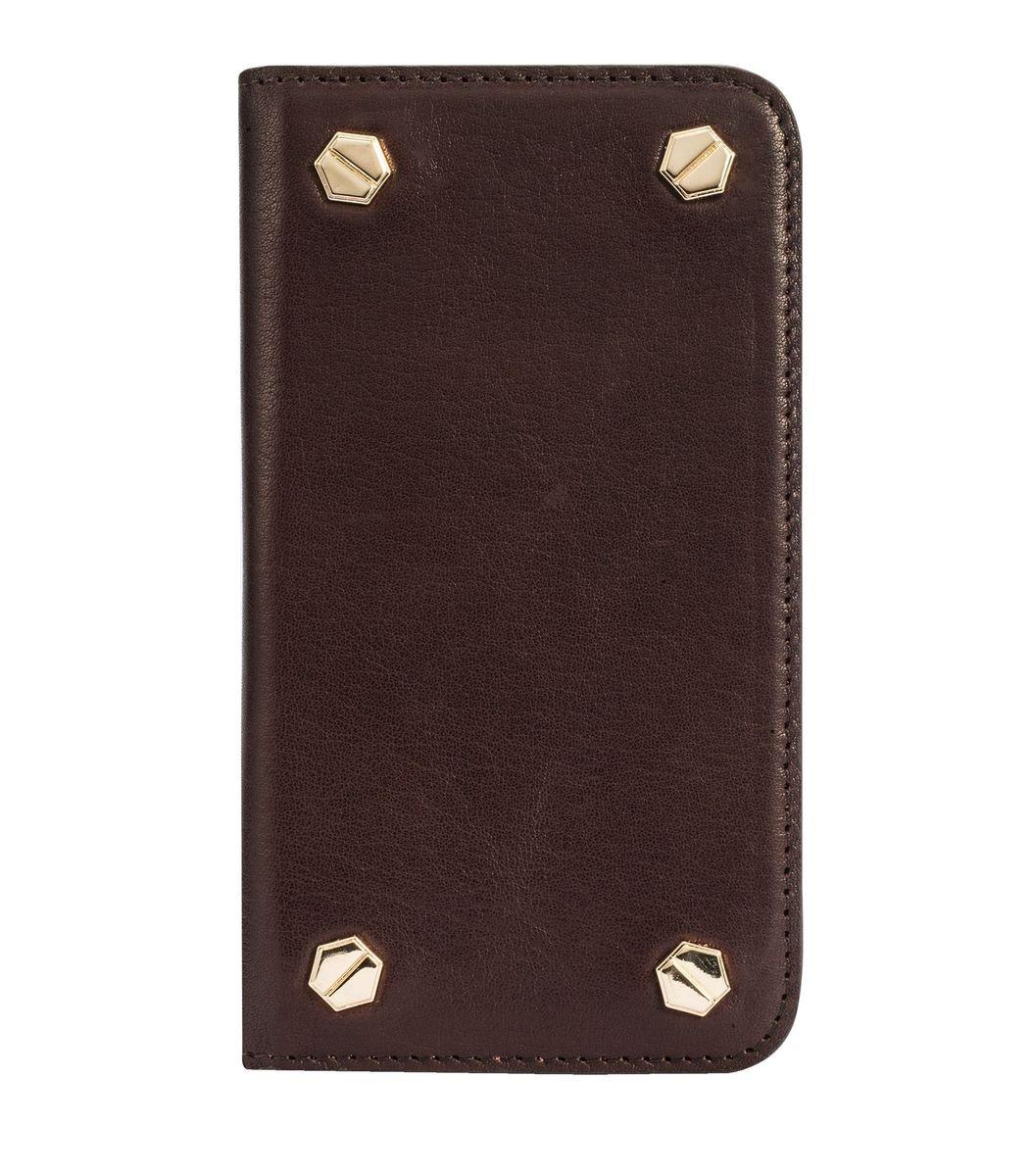 "Apple Iphone 6/6s (4.7"") Hex-shine系列義大利高級牛皮時尚手機套 (義大利咖啡色)"