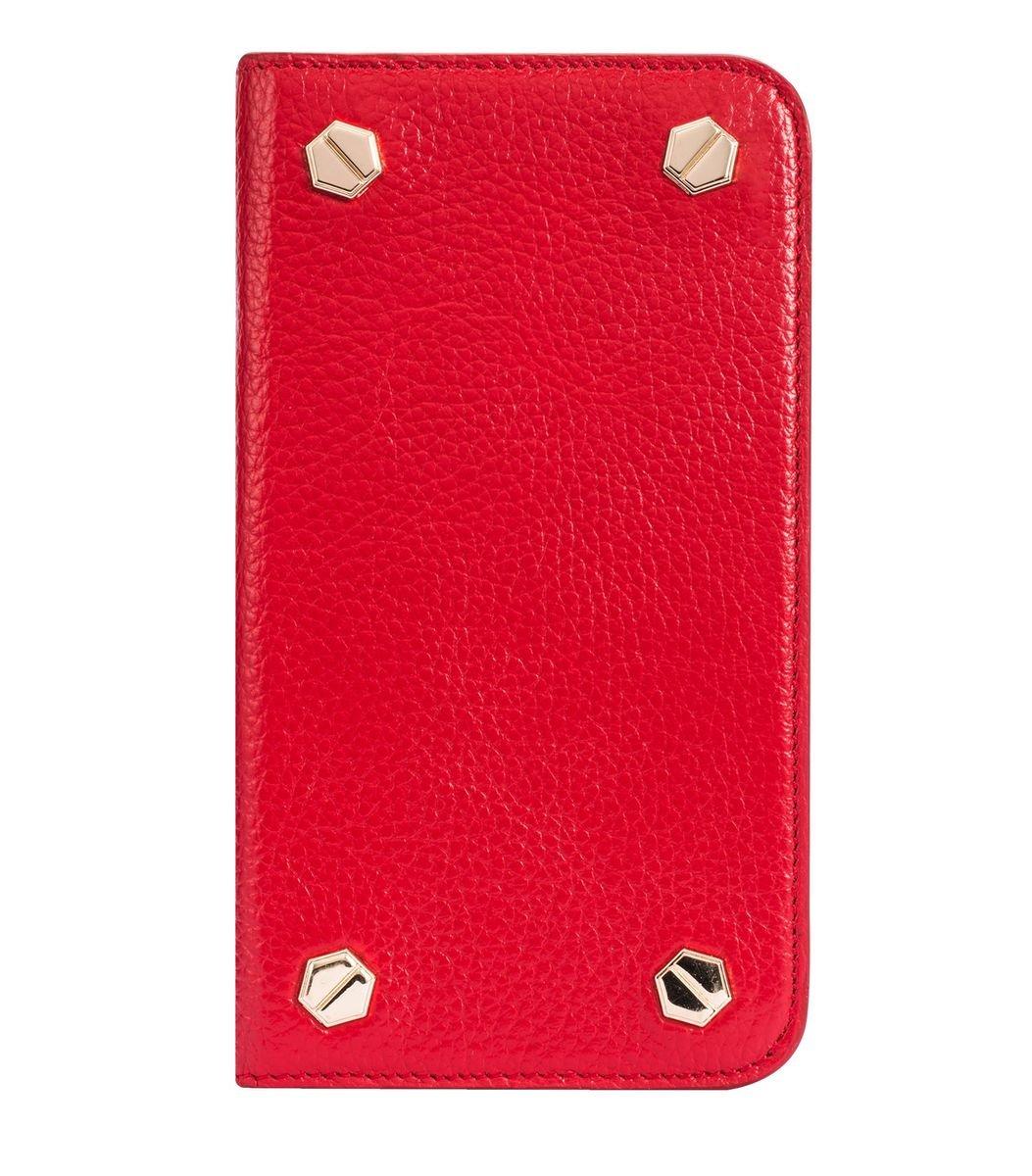 """Apple Iphone 6/6s (4.7"""") Hex-shine 系列高級牛皮時尚手機套 (紅色荔枝條紋)"""