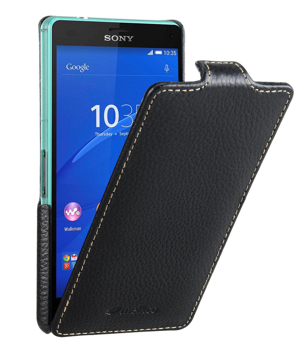 Sony Xperia Z3 Compact / Z3 Mini Jacka Type 高級真皮革手機套 (黑色荔枝條紋)