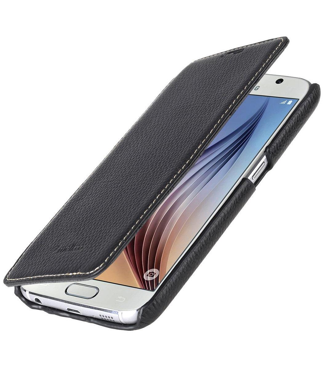 Samsung Galaxy S6  Face cover book Type高級真皮革手機套(黑色荔枝條紋)