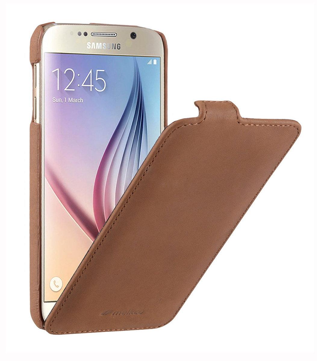 Samsung Galaxy S6 Jacka Type 高級真皮革手機套 (經典復古褐色)