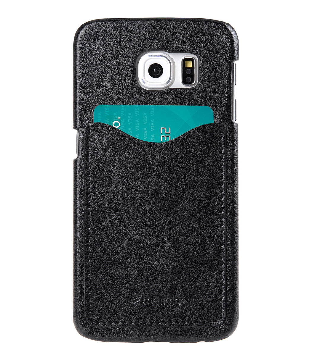 Samsung Galaxy S6 Card Slot Back Cover(ver.2)人造皮手機殼 (黑色)