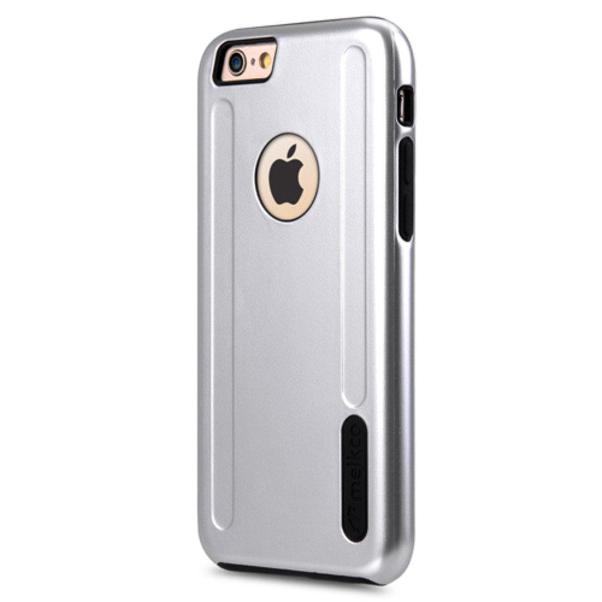 "Apple iPhone 6s (4.7"") Special Edition Metallic Kubalt 雙層保護殼 (可見蘋果標誌)- 銀色/黑色"