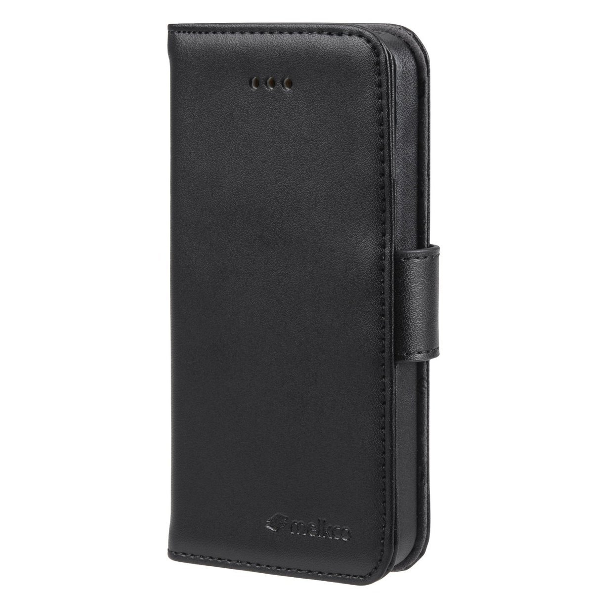 Apple iPhone 5s Wallet Book Type 高級真皮革手機套 - 黑色