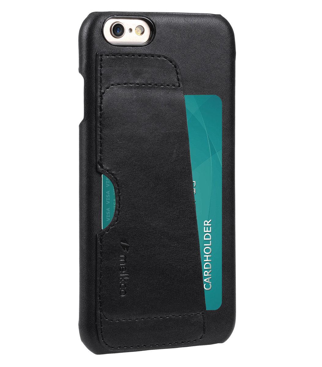 Apple iPhone 6S Plus (5.5 inch) European系列高級真皮革手機套 - 黑色