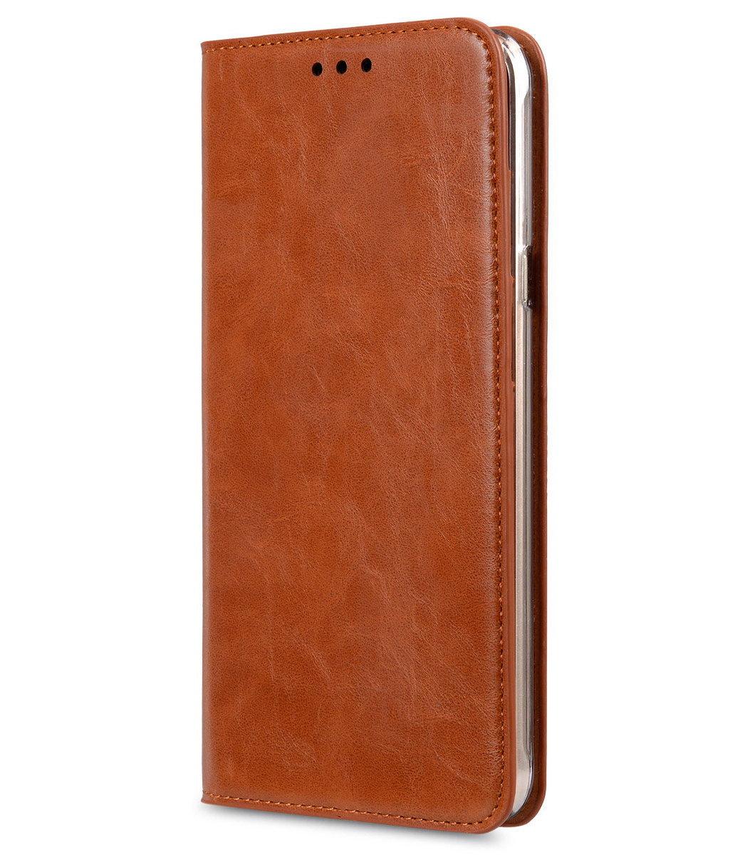 Samsung Galaxy A8 Herman 系列人造皮手機套 - 瘋馬啡色