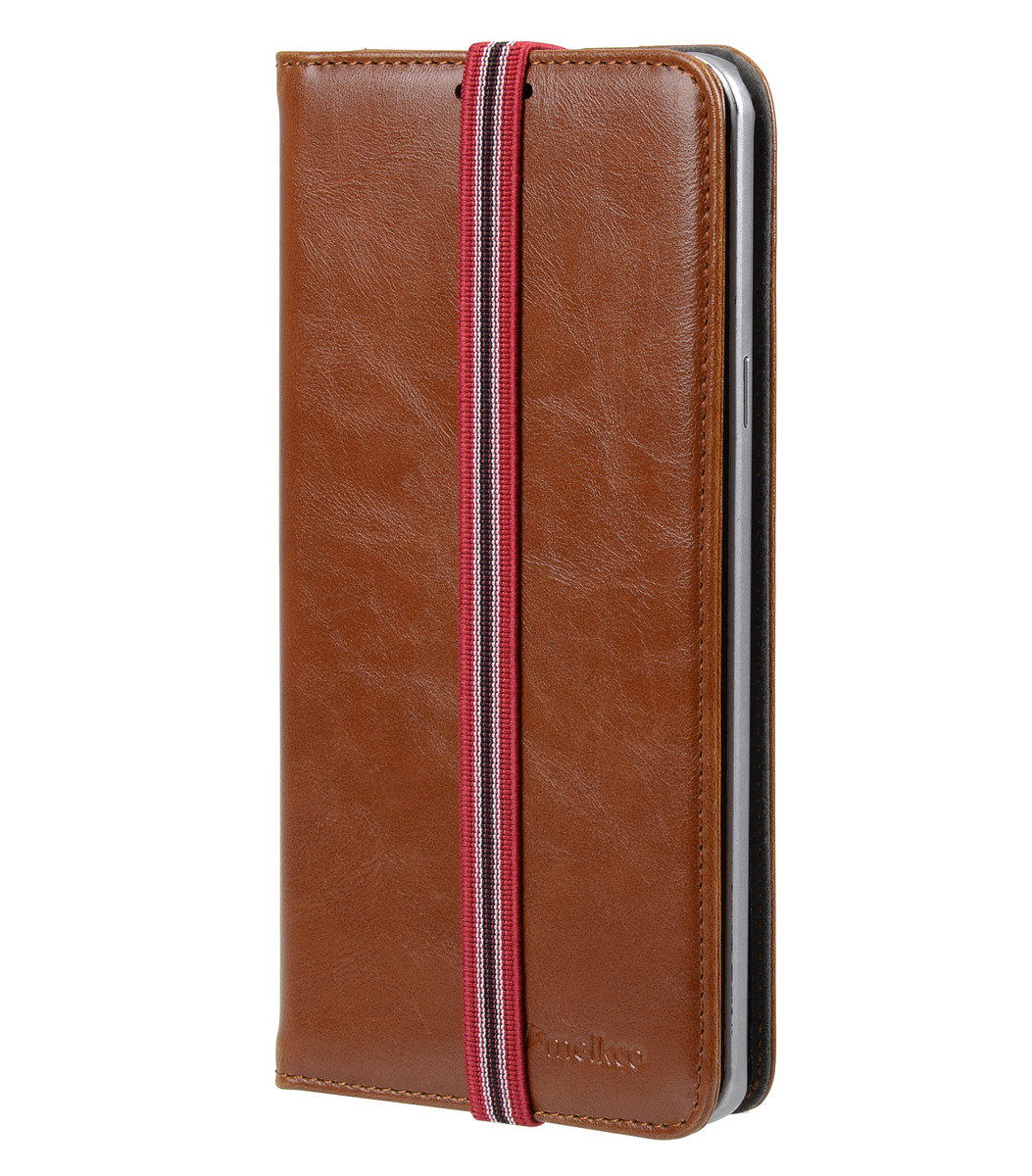 Samsung Galaxy Note 5 Slim Tick Type人造皮手機套 - 瘋馬啡色