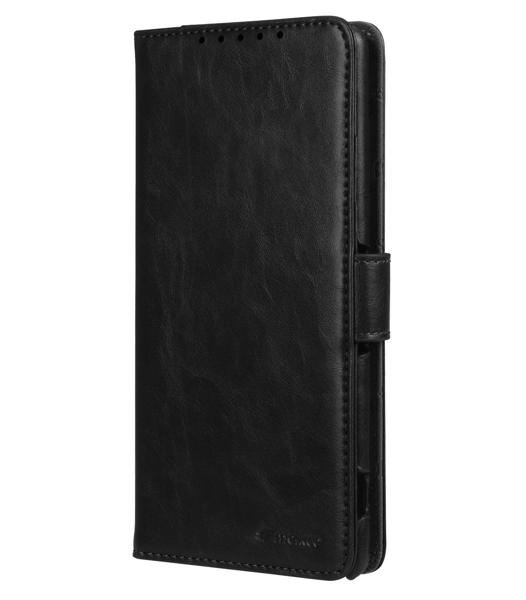 Sony Xperia C5 Ultra Wallet Book Type 人造皮手機套 - 黑色