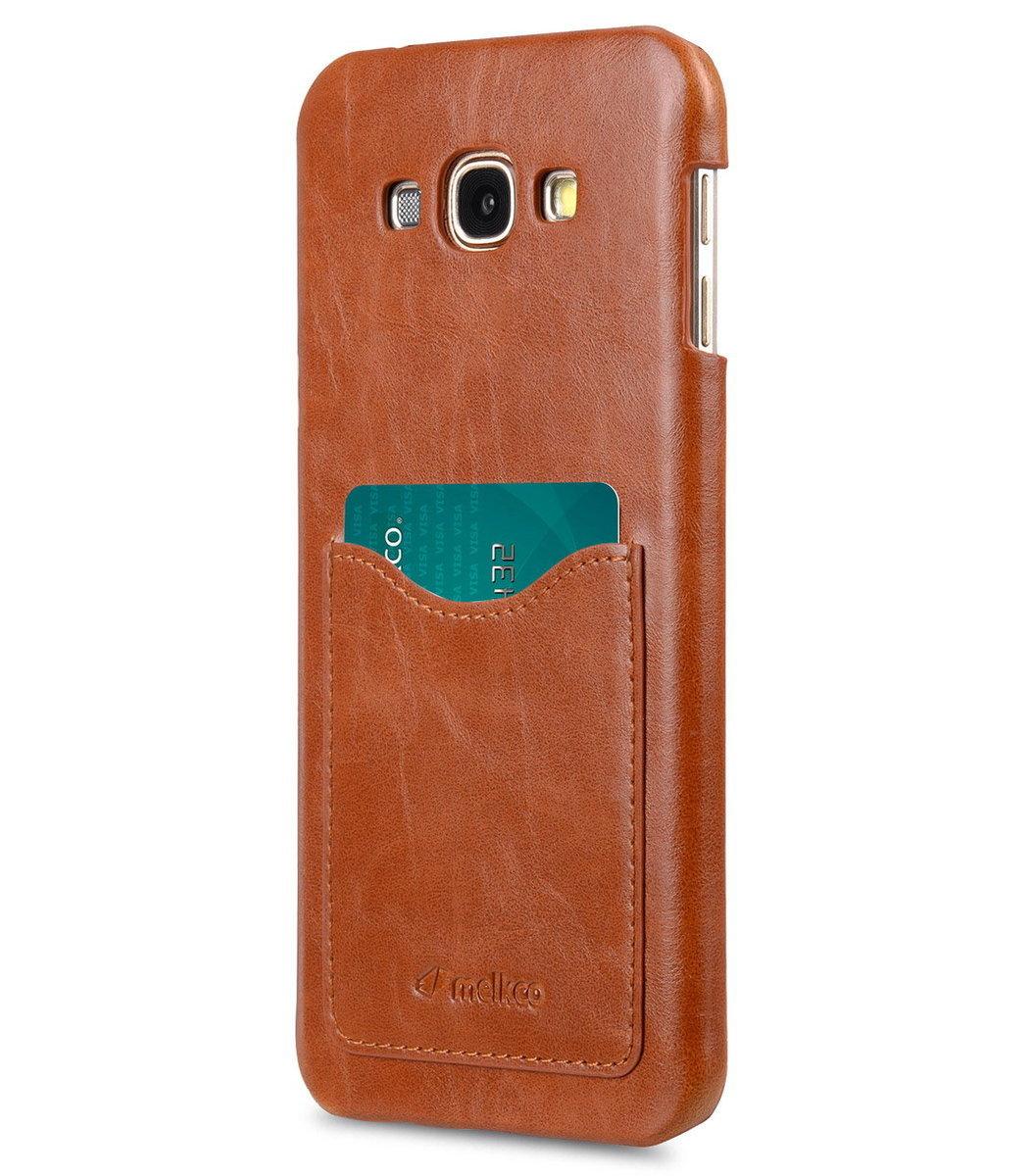 Samsung Galaxy A8 Snap Cover人造皮手機套 - 瘋馬啡色