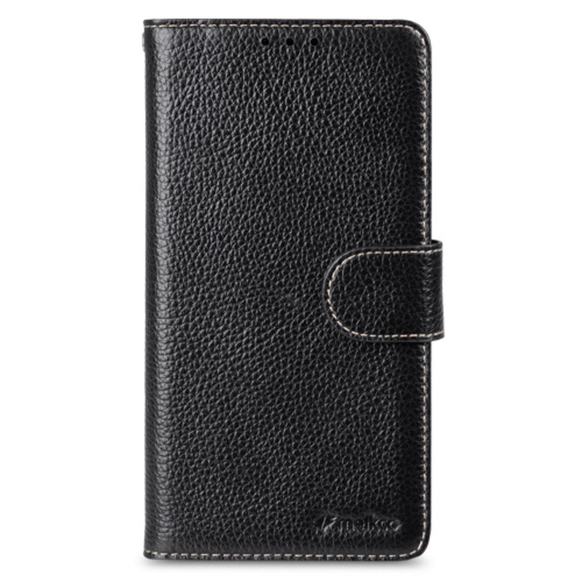 Samsung Galaxy Note 5 Wallet Book Type 高級真皮革手機套 - 黑色荔枝紋