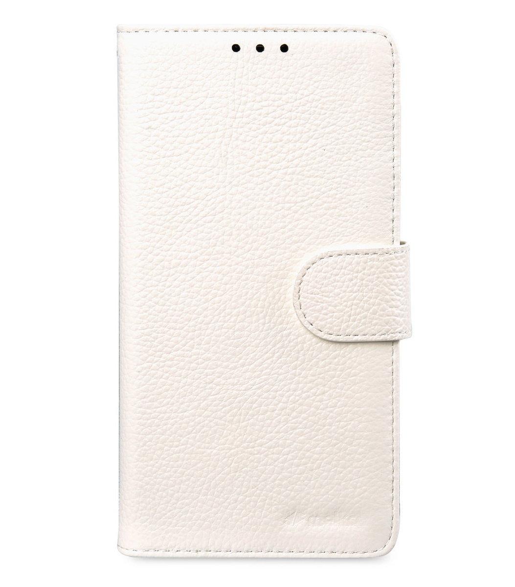 Samsung Galaxy Note 5 Wallet Book Type 高級真皮革手機套 - 白色荔枝紋