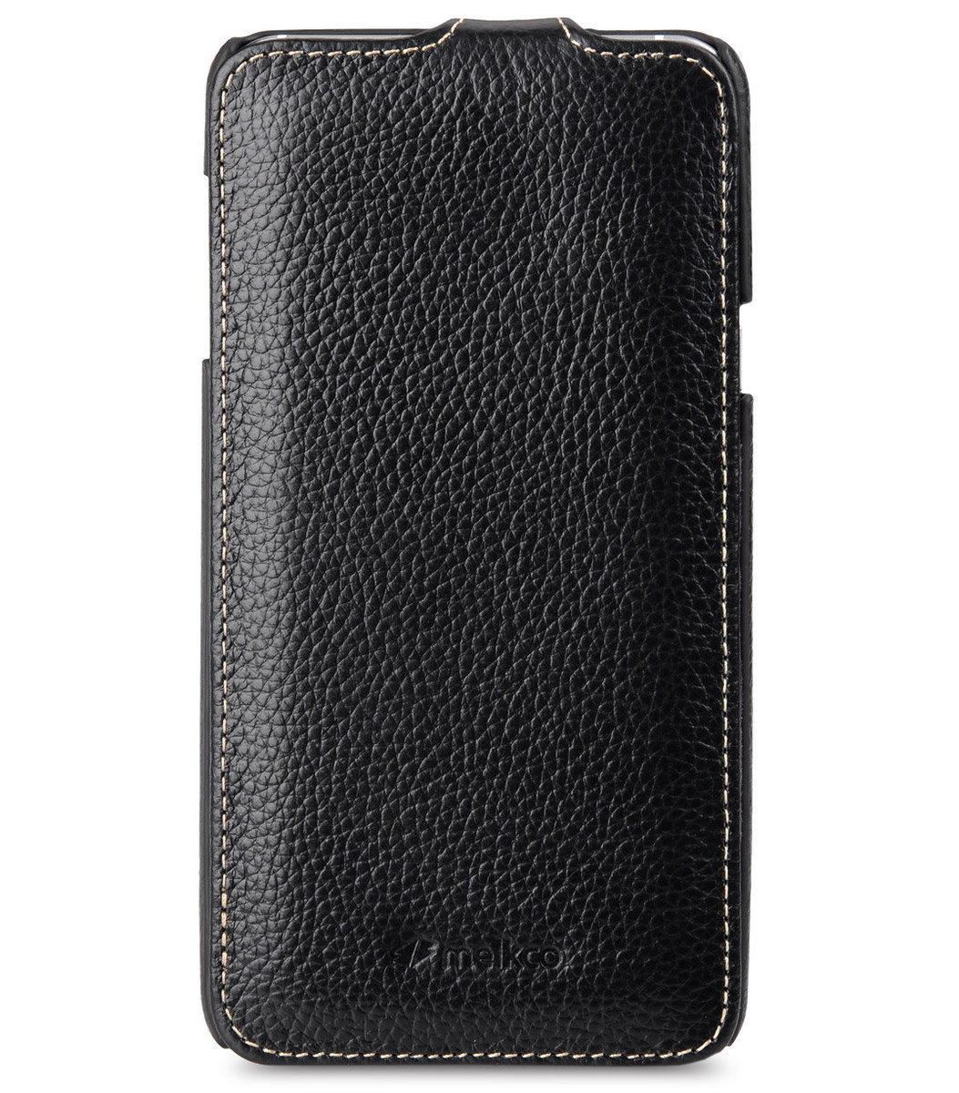 Samsung Galaxy Note 5 Jacka Type 高級真皮革手機套 - 黑色荔枝紋