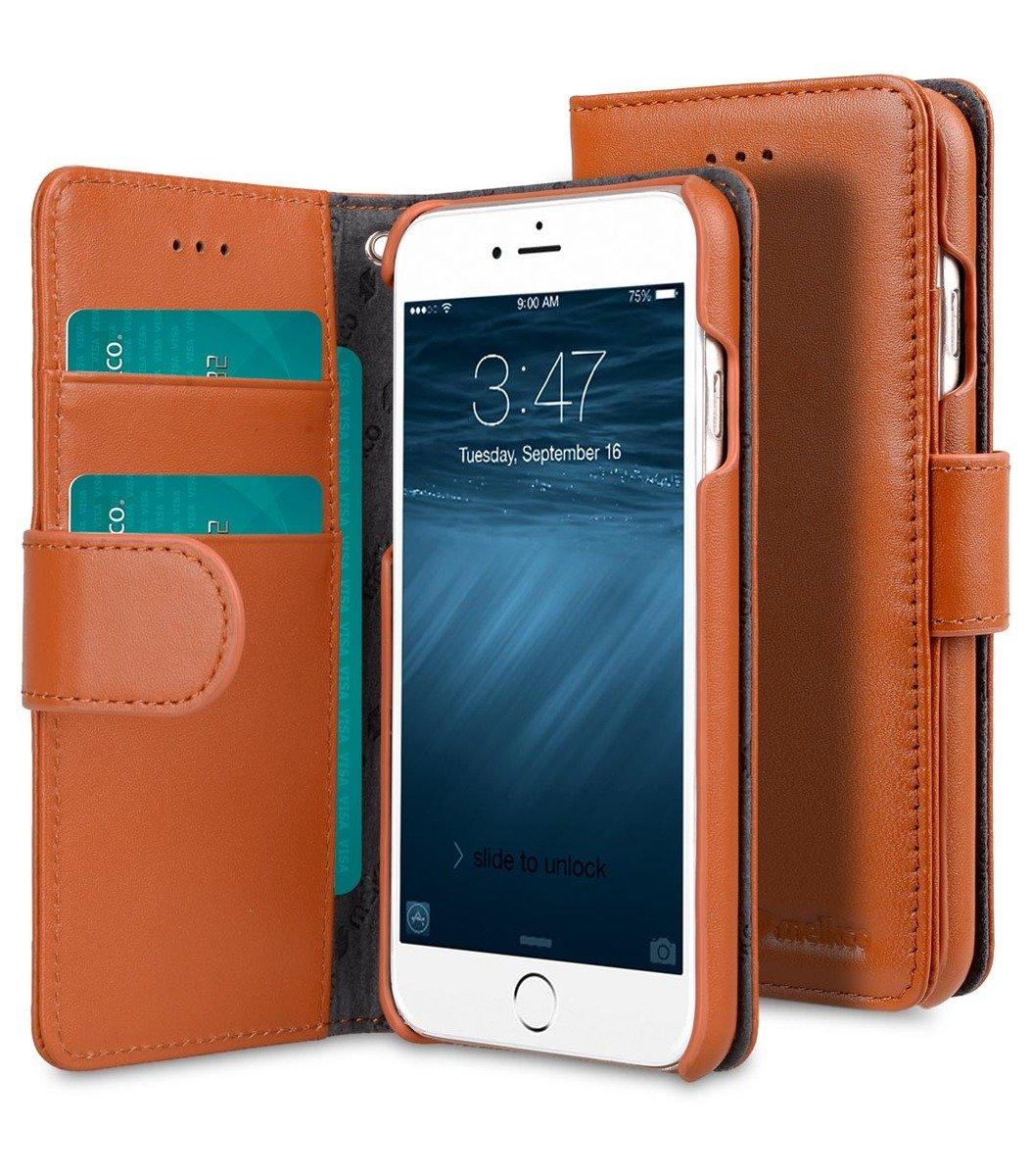 Apple iPhone 6s/6Wallet Book Type高級真皮手機套-瘋馬啡色