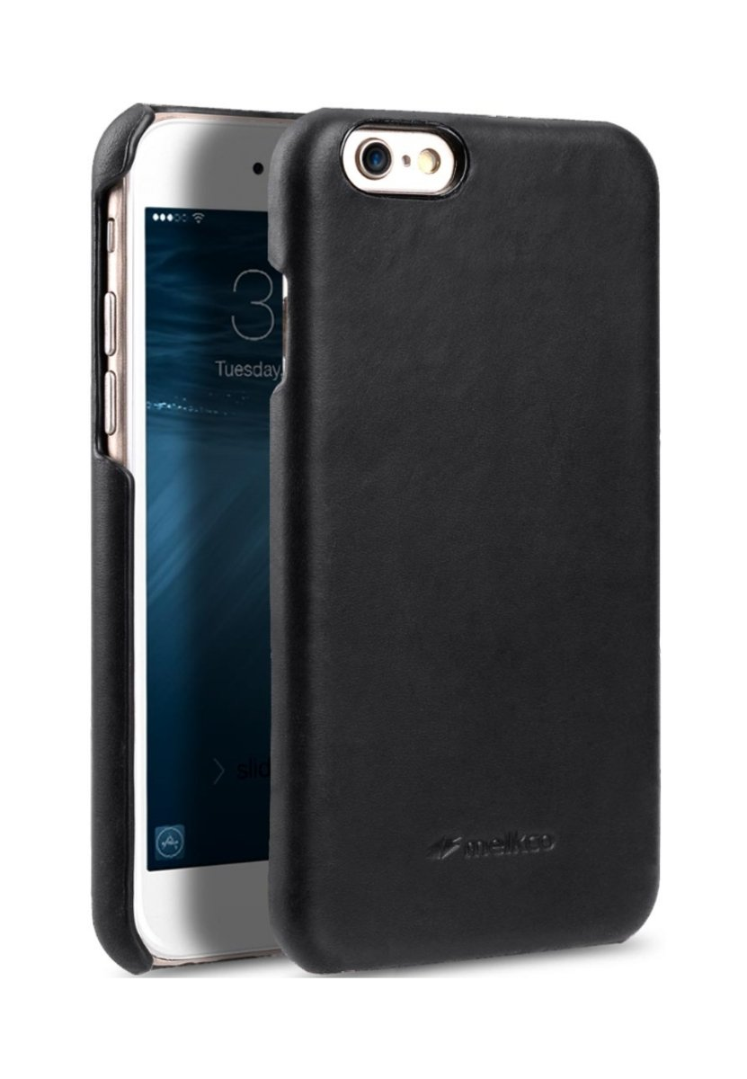 Apple iPhone 6s/6 高級真皮手機背殼套-瘋馬黑色