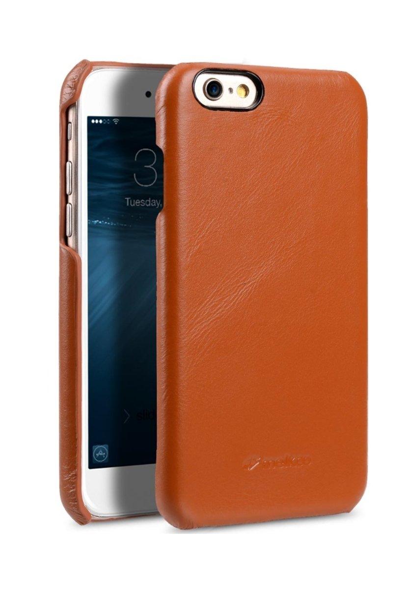 Apple iPhone 6s/6 高級真皮手機背殼套-瘋馬啡色