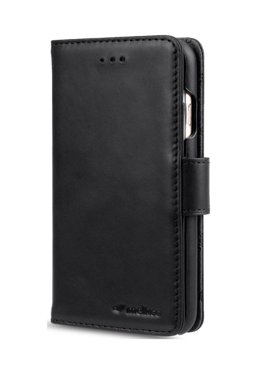 Apple iPhone 6s Plus/6 Plus Wallet Book Type高級真皮手機套-瘋馬黑色