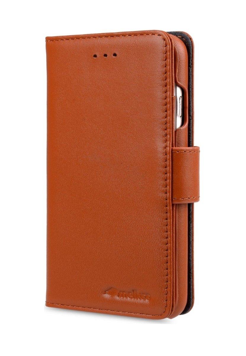 Apple iPhone 6s Plus/6 Plus Wallet Book Type高級真皮手機套-瘋馬啡色