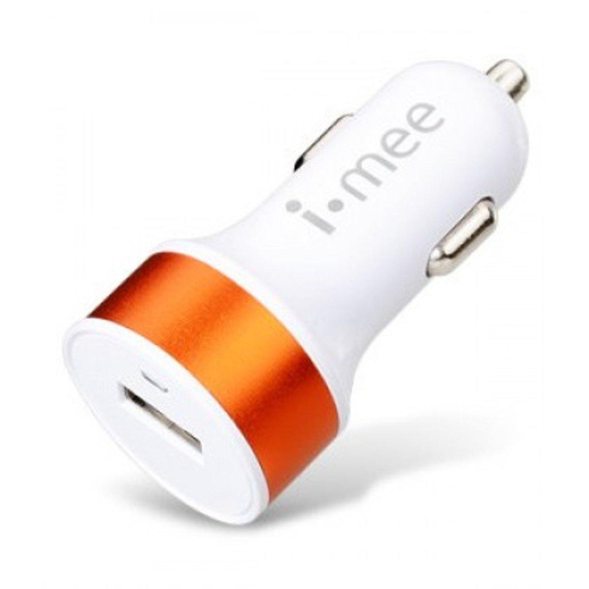 2.1A汽車充電器(適合大部分手機裝置)-橙色