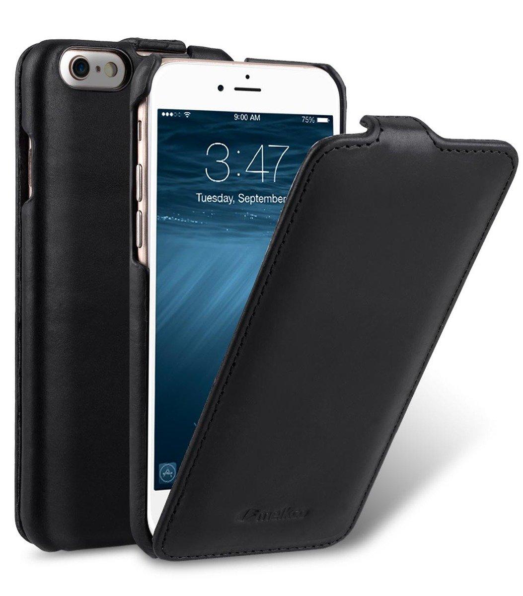 Apple iPhone 6s/6 Jacka Type高級真皮手機套-瘋馬黑色