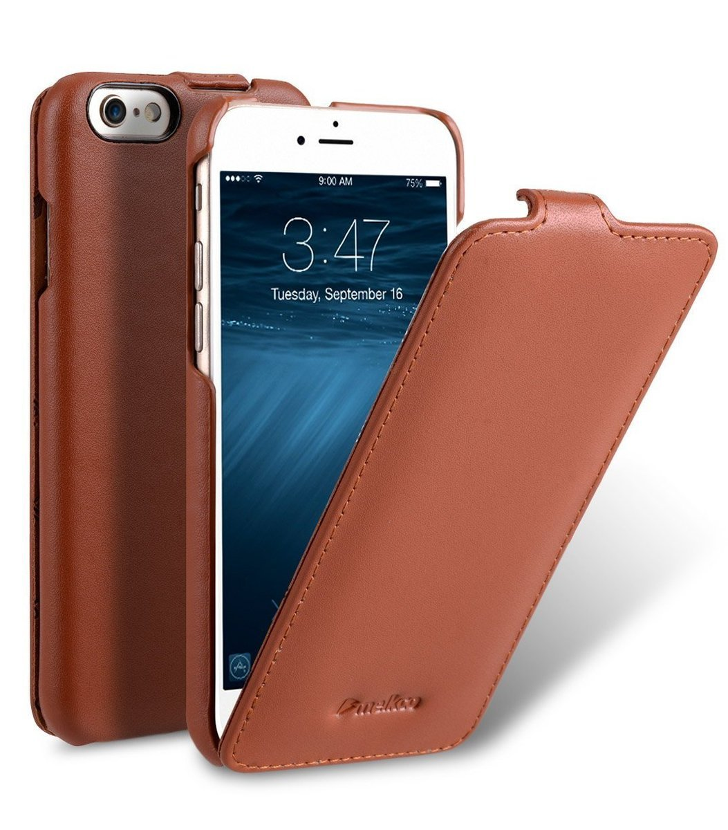Apple iPhone 6s/6 Jacka Type高級真皮手機套-瘋馬啡色
