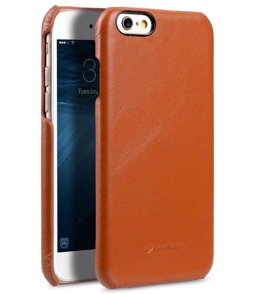 Apple iPhone 6s Plus/6 Plus高級真皮手機背殼套-瘋馬啡色
