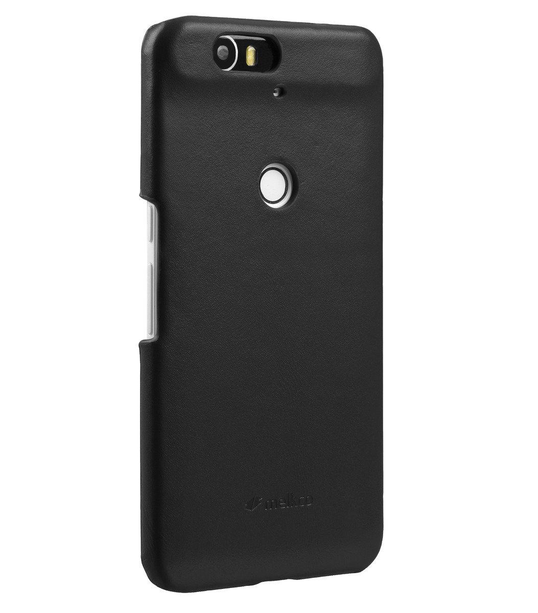 Huawei Nexus 6P高級真皮手機背殼套-瘋馬黑色