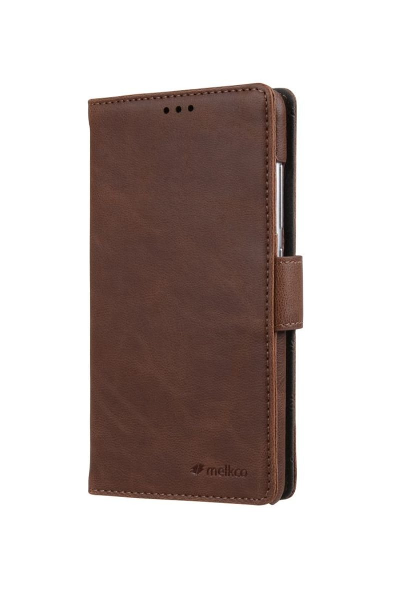 Xiaomi Redmi Note 3 Wallet Book Type人造皮手機套-磨沙啡色