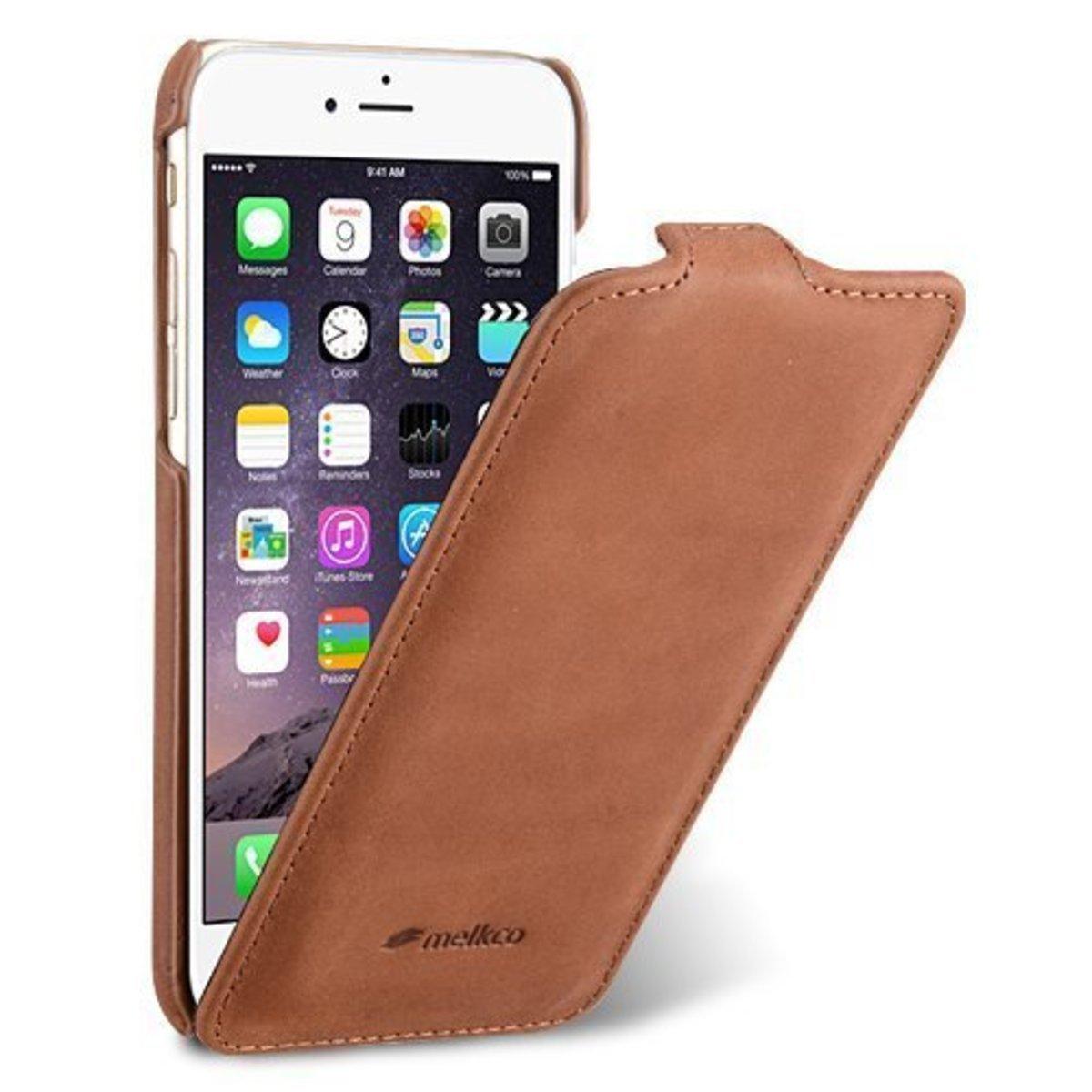 Apple iPhone 6s /6 高級真皮手機皮套-磨沙啡色