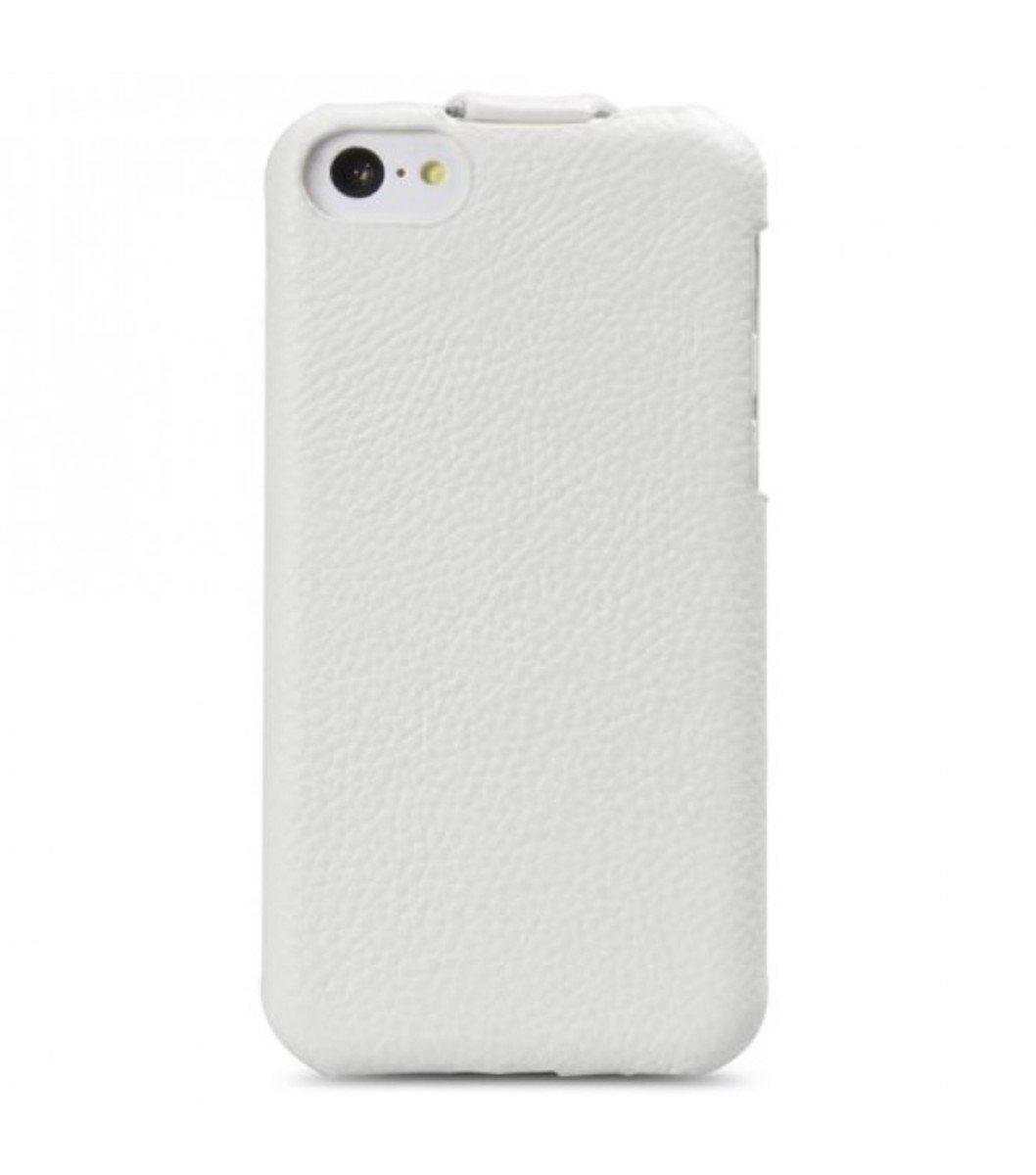 Melkco 高級皮革手機套 Apple iphone 5C-白色荔枝紋