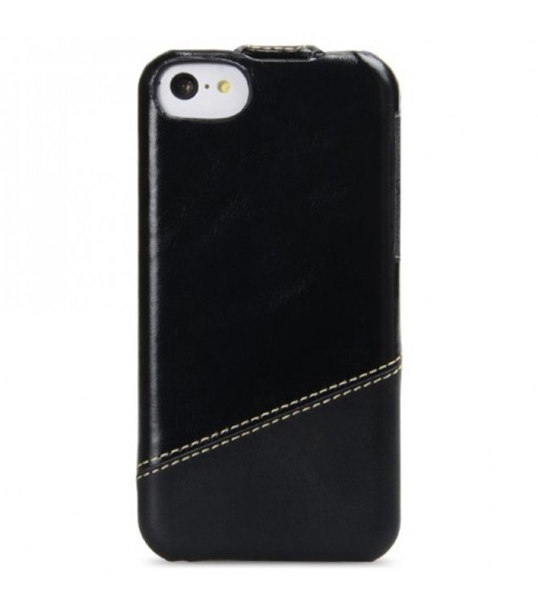 Melkco 高級皮革手機套 Apple iphone 5C-磨沙黑色