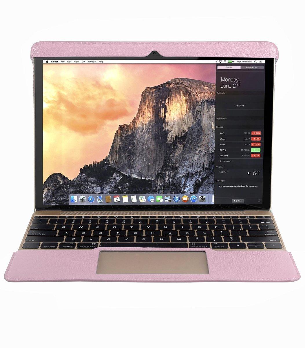 Melkco Apple MacBook Air 合身真皮電腦套-亮粉色荔枝紋