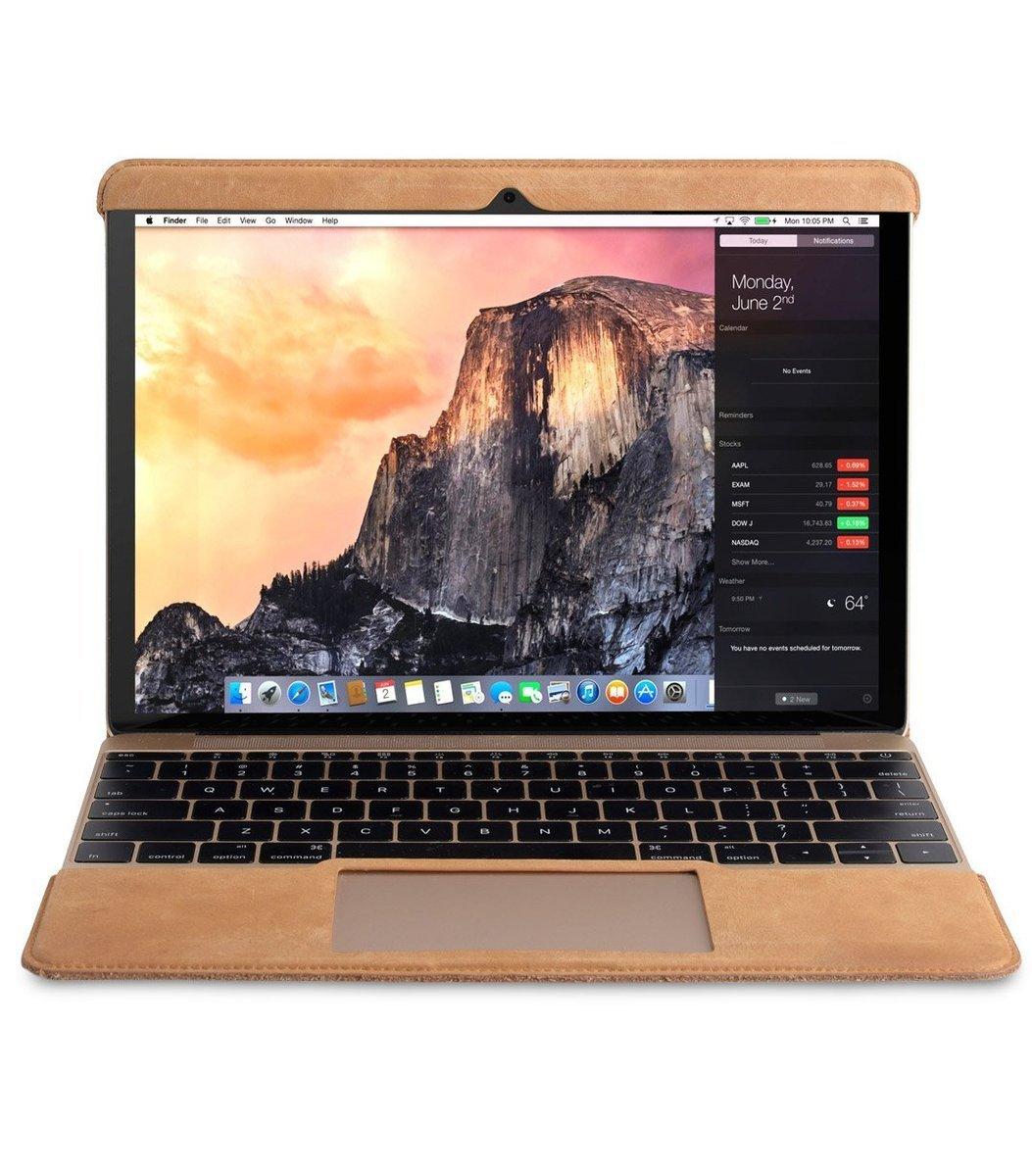 Melkco Apple MacBook Air 合身真皮電腦套-啡色