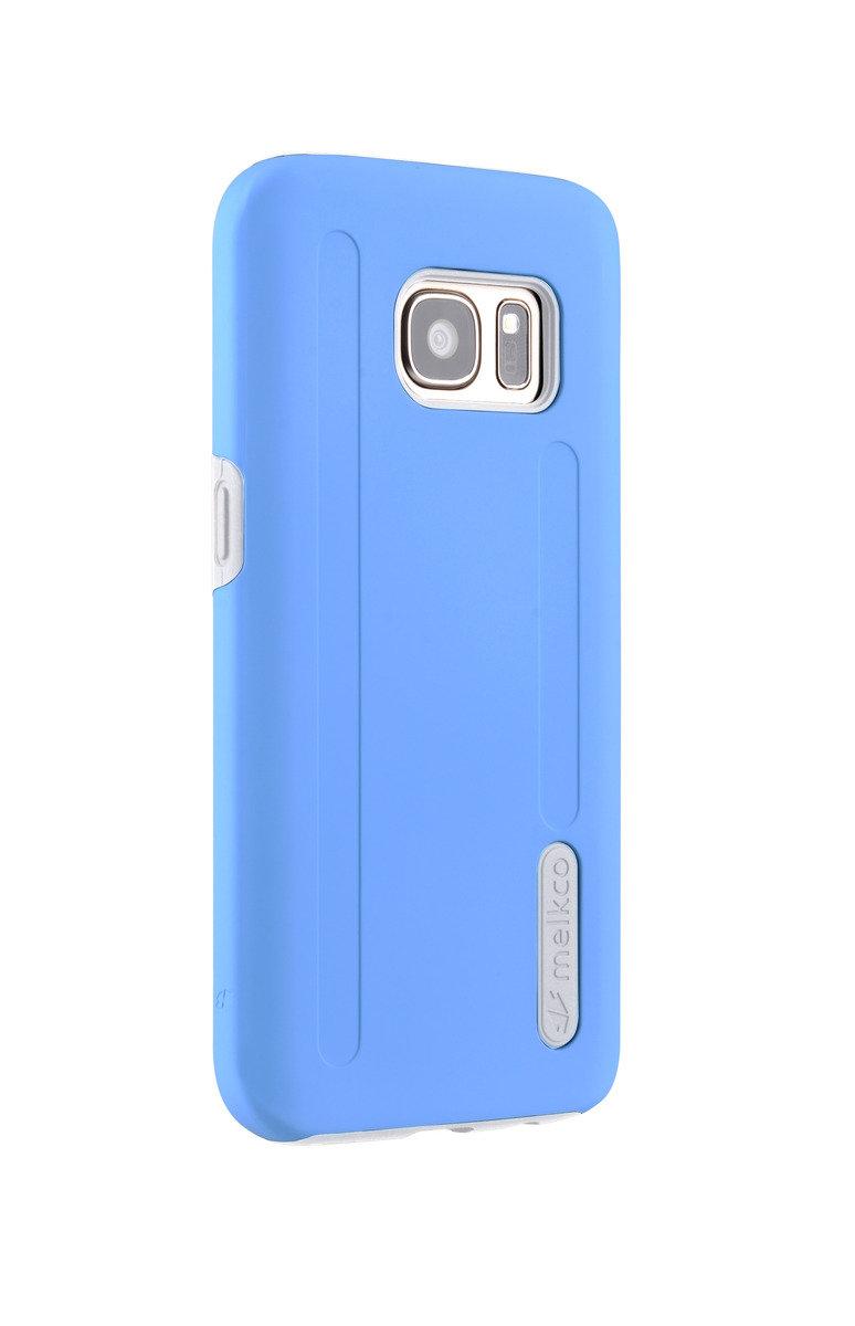 三星Galaxy S7 Kubalt雙層手機保護套 - 藍色/白色(附送屏幕保護貼)