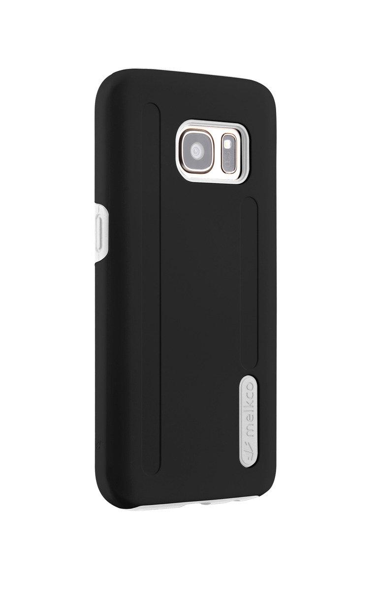 三星Galaxy S7 Kubalt雙層手機保護套 - 黑色/白色(附送屏幕保護貼)