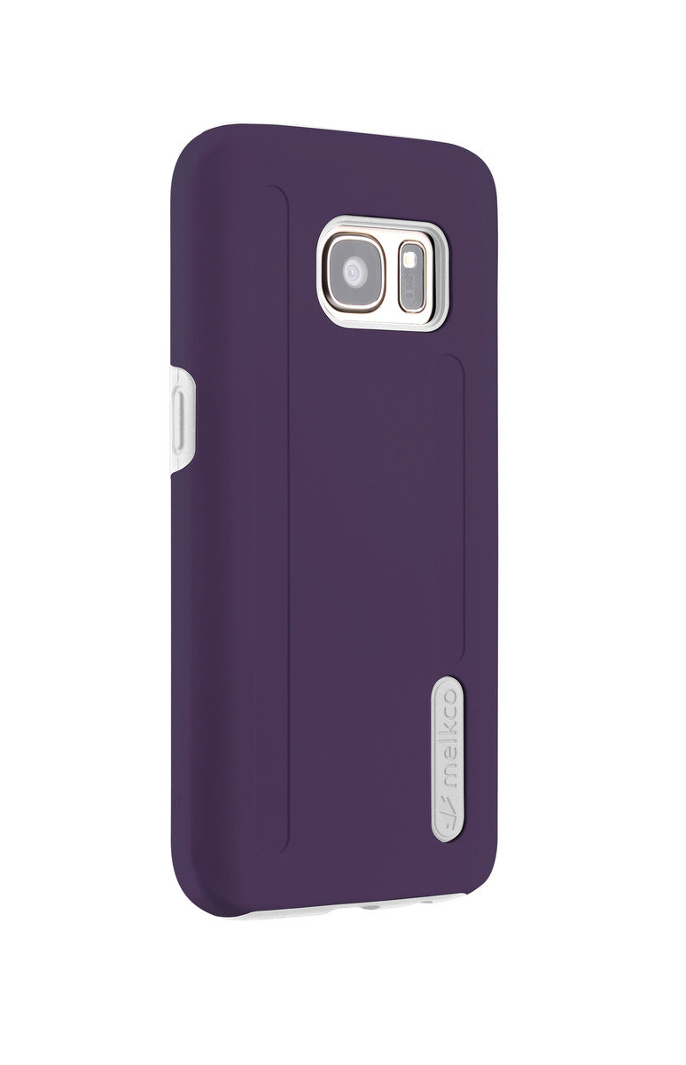 三星Galaxy S7 Kubalt雙層手機保護套 - 紫色/白色(附送屏幕保護貼)