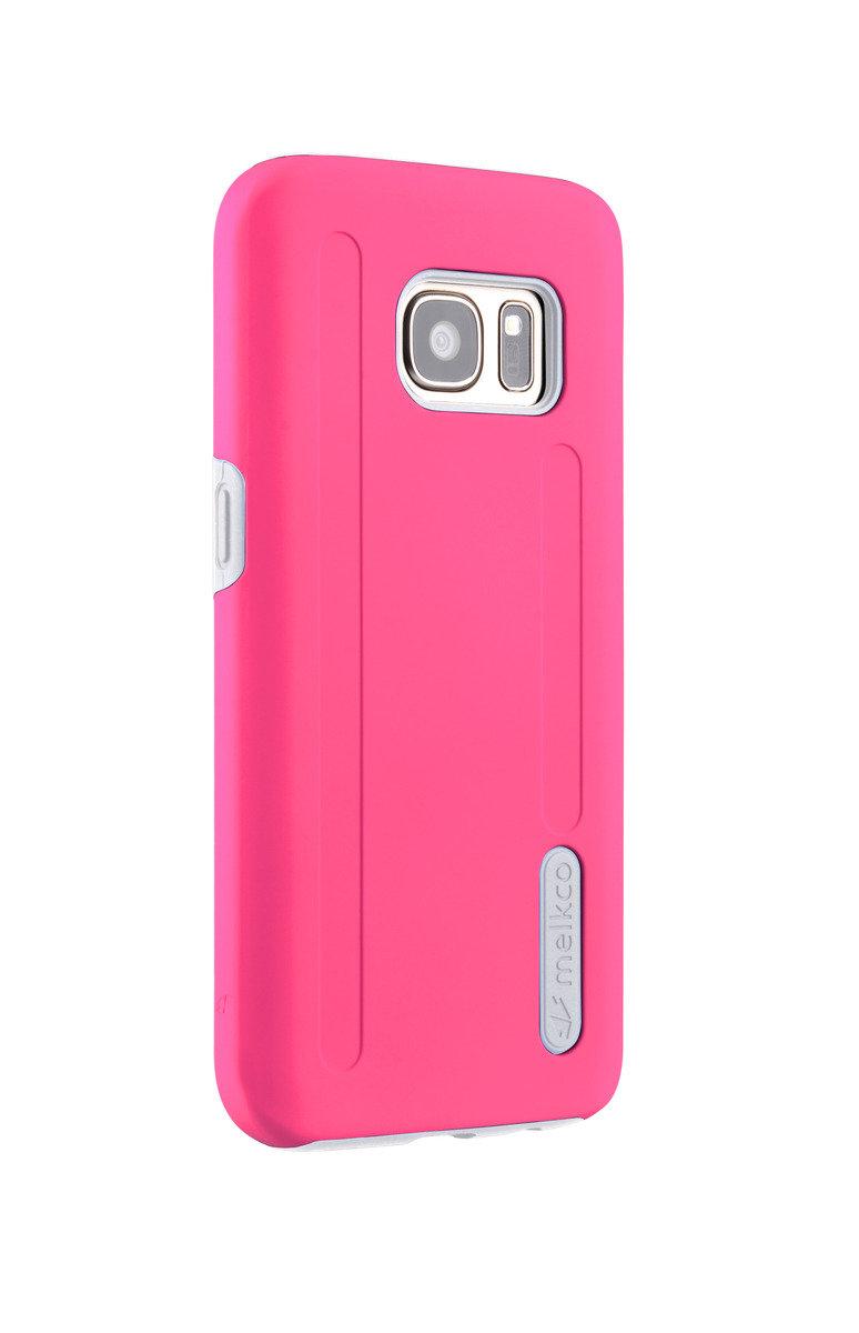 三星Galaxy S7 Kubalt雙層手機保護套 - 粉紅色/白色(附送屏幕保護貼)