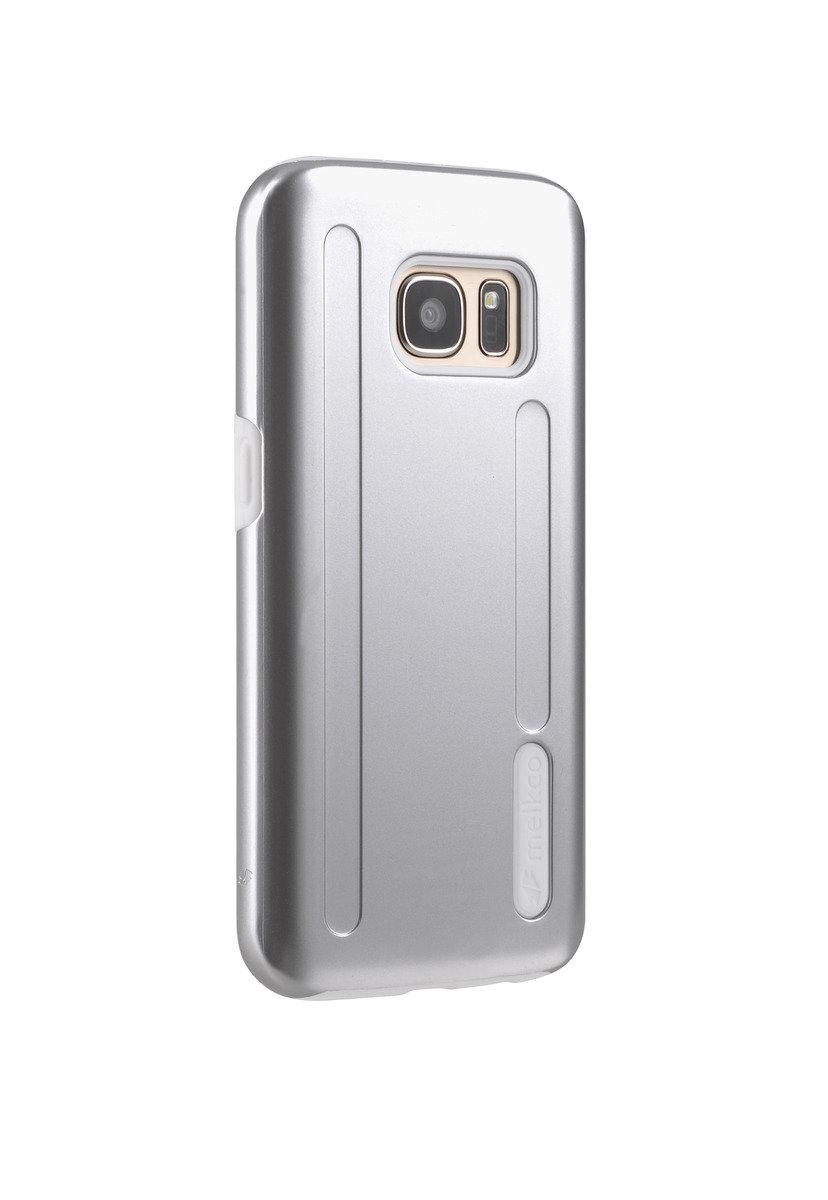 三星Galaxy S7 Kubalt 特別版金屬色雙層手機保護套 - 金屬銀色/白色(附送屏幕保護貼)