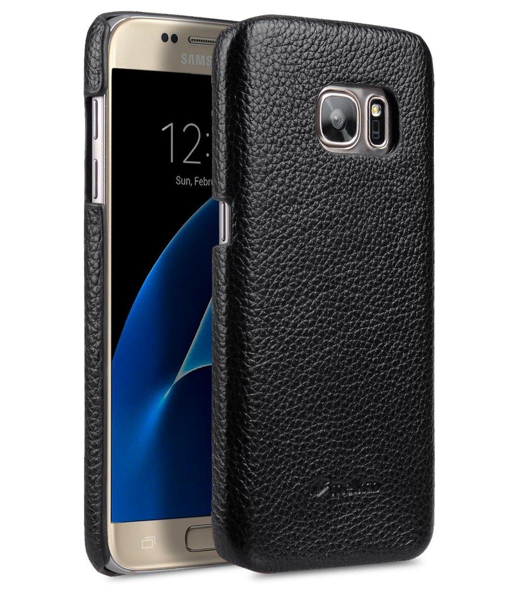 Samsung Galaxy S7 荔枝紋真皮背殼 (黑色)