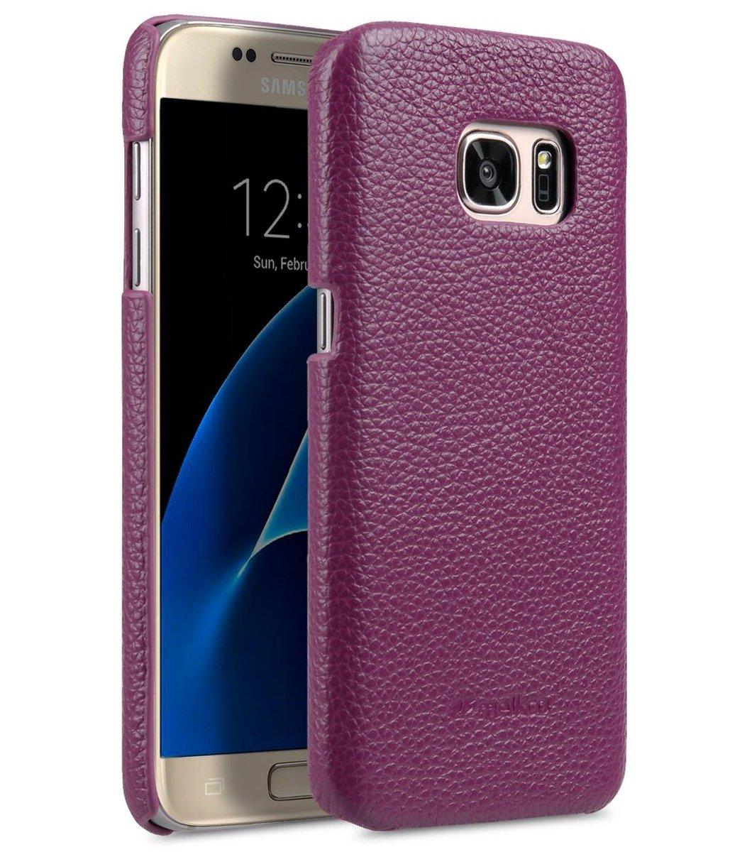 Samsung Galaxy S7 荔枝紋真皮背殼 (紫色)