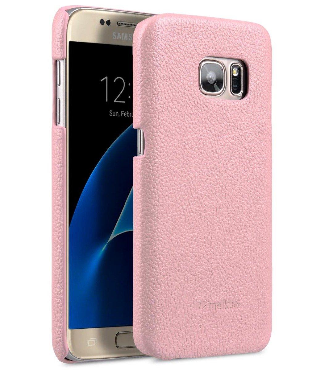 Samsung Galaxy S7 荔枝紋真皮背殼 (粉紅色)
