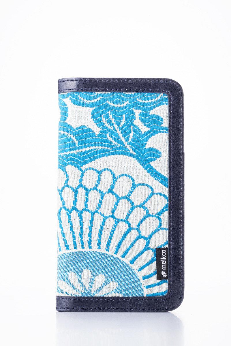Apple iPhone 6s/6 Prestige Collection Heritage系列高級皮革手機皮套-奧利佛深藍色/藍色提花圖